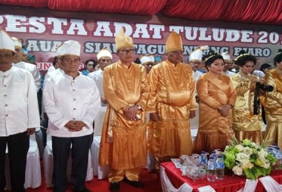 Hadiri Pesta Tulude, Gubernur Olly Ajak Masyarakat Sitaro Lestarikan Budaya