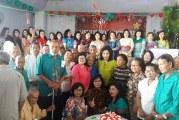 Aksi Frist Laddy Sulut Ir Rita Maya Tamutuan-Dondokambey di HUT ke-49 Bersama Lansia