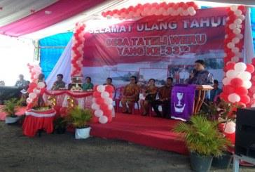 Karo Kumendong Wakili Gubernur Hadiri HUT ke 33 Desa Tateli Weru