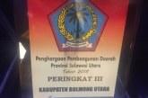 Pemkab Bolmut Kembali Meraih Penghargaan Dari Kementerian KPPN dan Bapenas Sulut