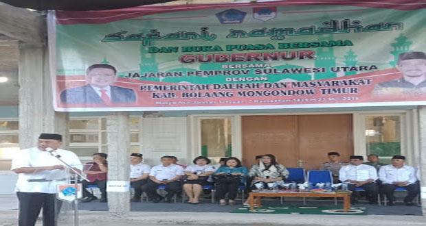 Gubernur dan Wakil Gubernur Sulut Roadhow Safari Ramadhan di Kabupaten/Kota