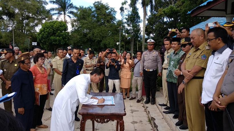 Pjs Walikota Kotamobagu Pimpin Deklarasi Tolak Teroris Di Kotamobagu