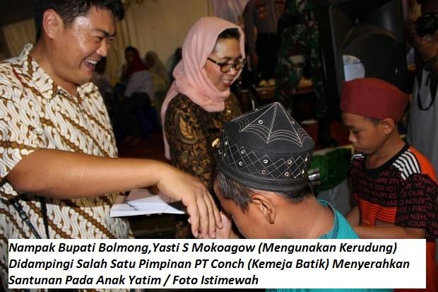 Bupati Bolmong Ajak Pimpinan PT Conch Santuni Anak Yatim