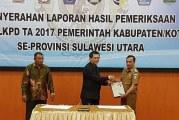 Plt Bupati Hadiri Penyerahan LKPD Tahun 2017, Bolmut Kembali Raih WTP