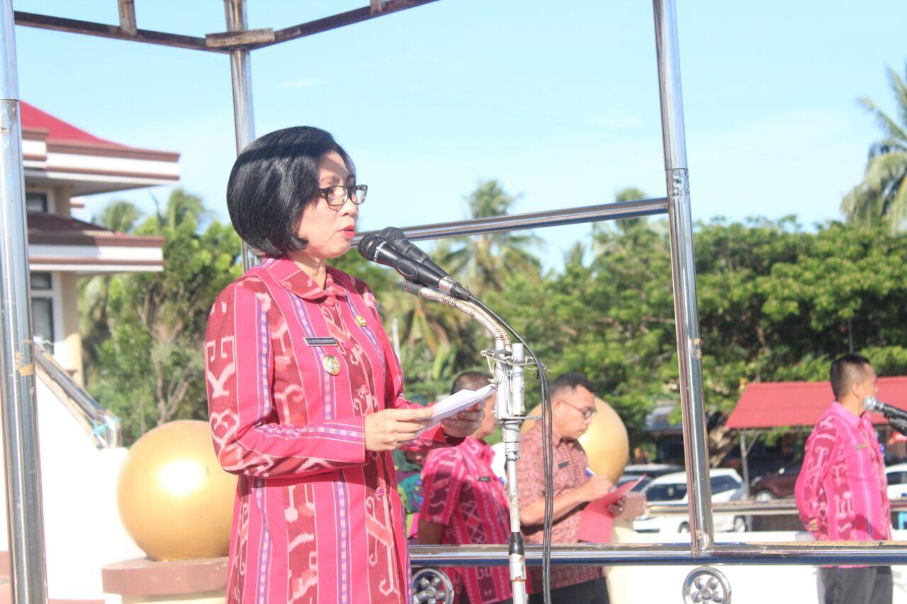 Lima Point Penting Jadi Pesan Bupati Bolmong Di Apel Bersama ASN