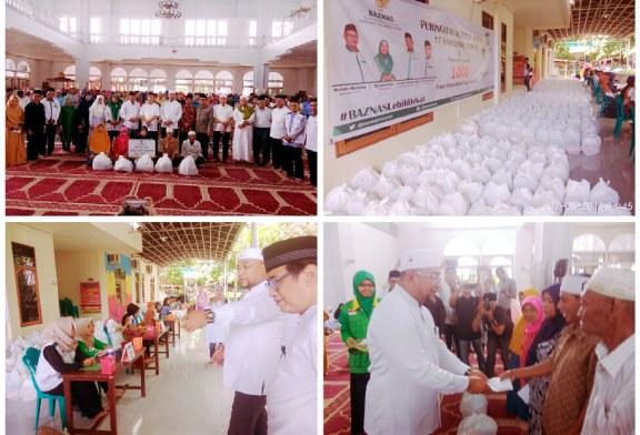 Peringatan Nuzulul Qur'an, Gubernur dan Baznas Distribusi 1000 Paket Ramadhan Bagi Mustahik