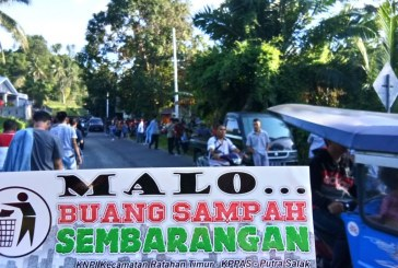 "Sadar Kebersihan, KNPI Ratahan Timur Kampanyekan ""Malo Buang Sampah Sembarang"""