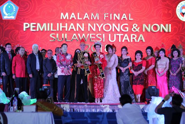 Di Tutup Wagub Kandouw, Ini Hasil Pemilihan Nyong dan Noni Sulut 2018