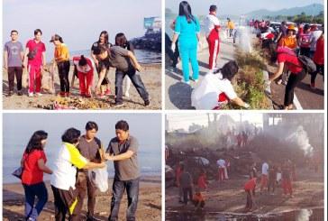 Ribuan ASN Pemprov Sulut Bersihkan Pantai dan Muara Sungai