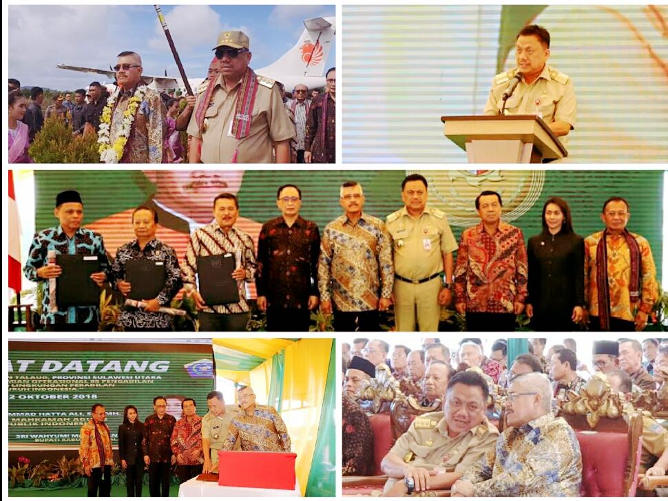 DiGelar di Melonguane, Gubernur Olly Dampingi Ketua MA Resmikan 85 Pengadilan se Indonesia