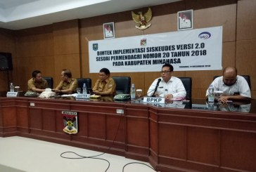 Denny Mangala Wakili Bupati ROR Buka Kegiatan Bimbingan Tekhnis Implementasi Siskeudes Versi 2.0