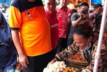 Gubernur Olly Sidak Pasar, Pastikan Harga Bapok Jelang Natal dan Tahun Baru 2019 Aman