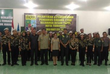 Komandan Kodim 1302/Min Hadiri Acara Pelantikan Pengurus FKPPI Tomohon