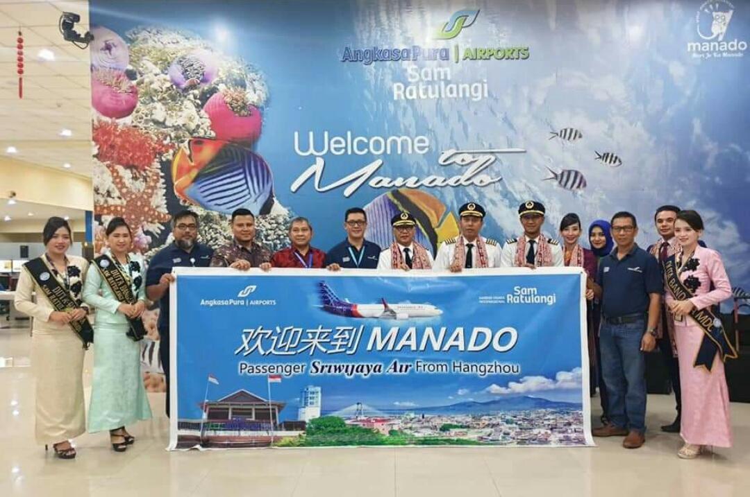 Hebat.! Resmi Beroperasi, Penerbangan Perdana Sriwijaya Air Rute Hangzhou-Manado Berjalan Sukses