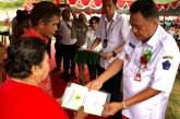 Gubernur Olly Serahkan 1.313 Sertipikat PTSL di Minahasa Utara