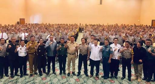 Gubernur Olly Ajak TNI Polri Sukseskan Pemilu 2019