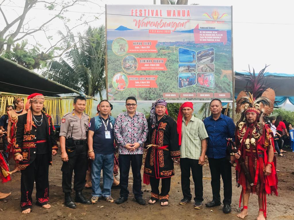 Wakili Bupati ROR, Kadis Budpar Minahasa Hadiri Festival Wanua Warembungan