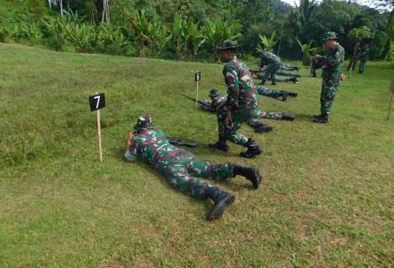 Kodim 1302/Min Laksanakan Latihan Menembak