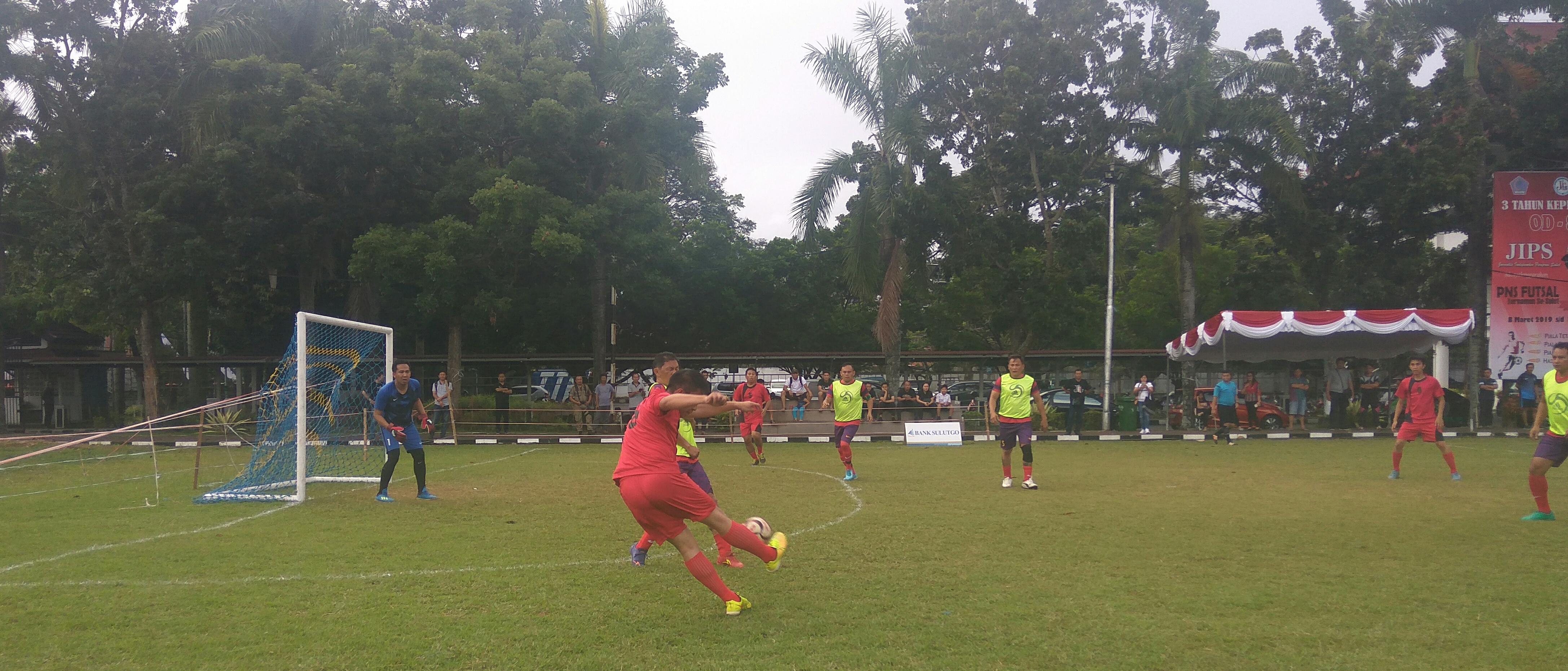 Futsal PNS 3 Tahun Kepemimpinan OD-SK Memasuki Babak Perempat Final