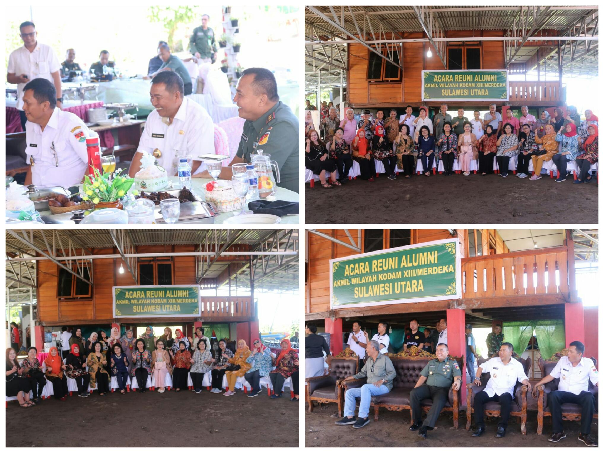 Bupati Sumendap Hadiri Reuni AKABRI Angkatan 70 bersama Letjen TNI Purn Jhony Lumintang
