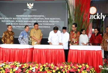 Gubernur Olly Dondokambey Dampingi Presiden Jokowi Resmikan Tiga Proyek Strategis Nasional