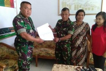 Pelda Johny Runtuwene Resmi Menjabat Plh Danramil 1302-12/Belang