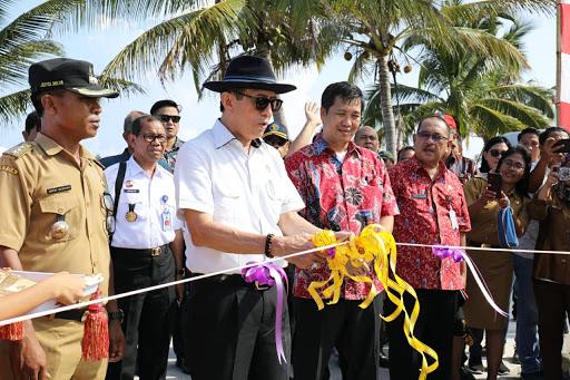 Wagub Kandouw Dampingi Menkumham Kunjungi Miangas Resmikan Monumen Megawati Soekarno Putri