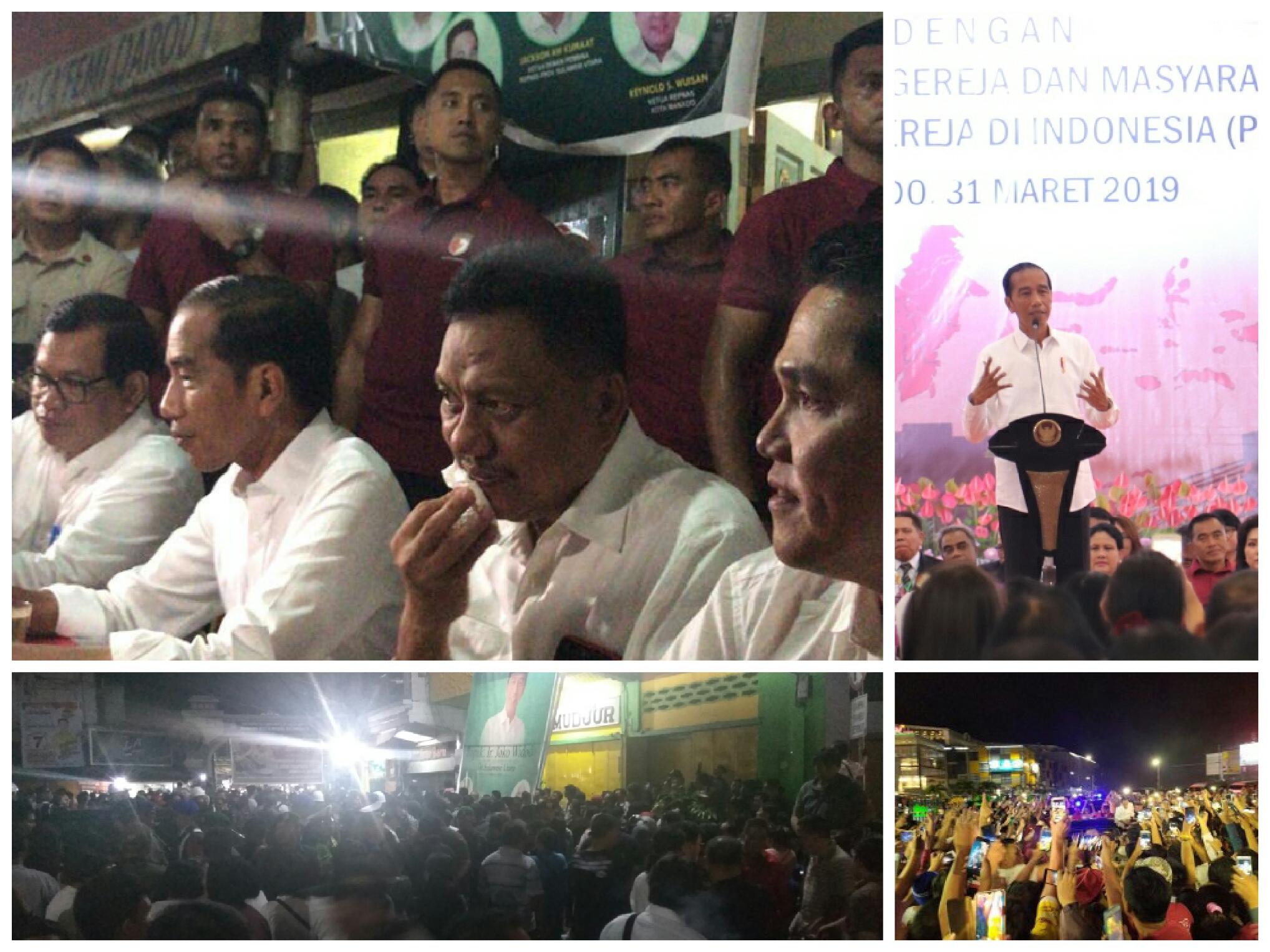 Gubernur Olly Dampingi Presiden Jokowi Wisata Kuliner di Jarod