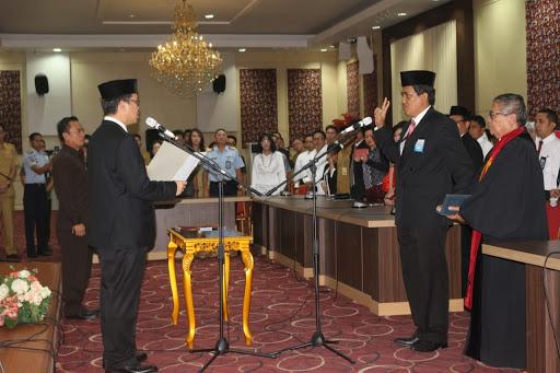 Wagub Kandouw Resmi Lantik Kepala BPKP Sulut yang Baru