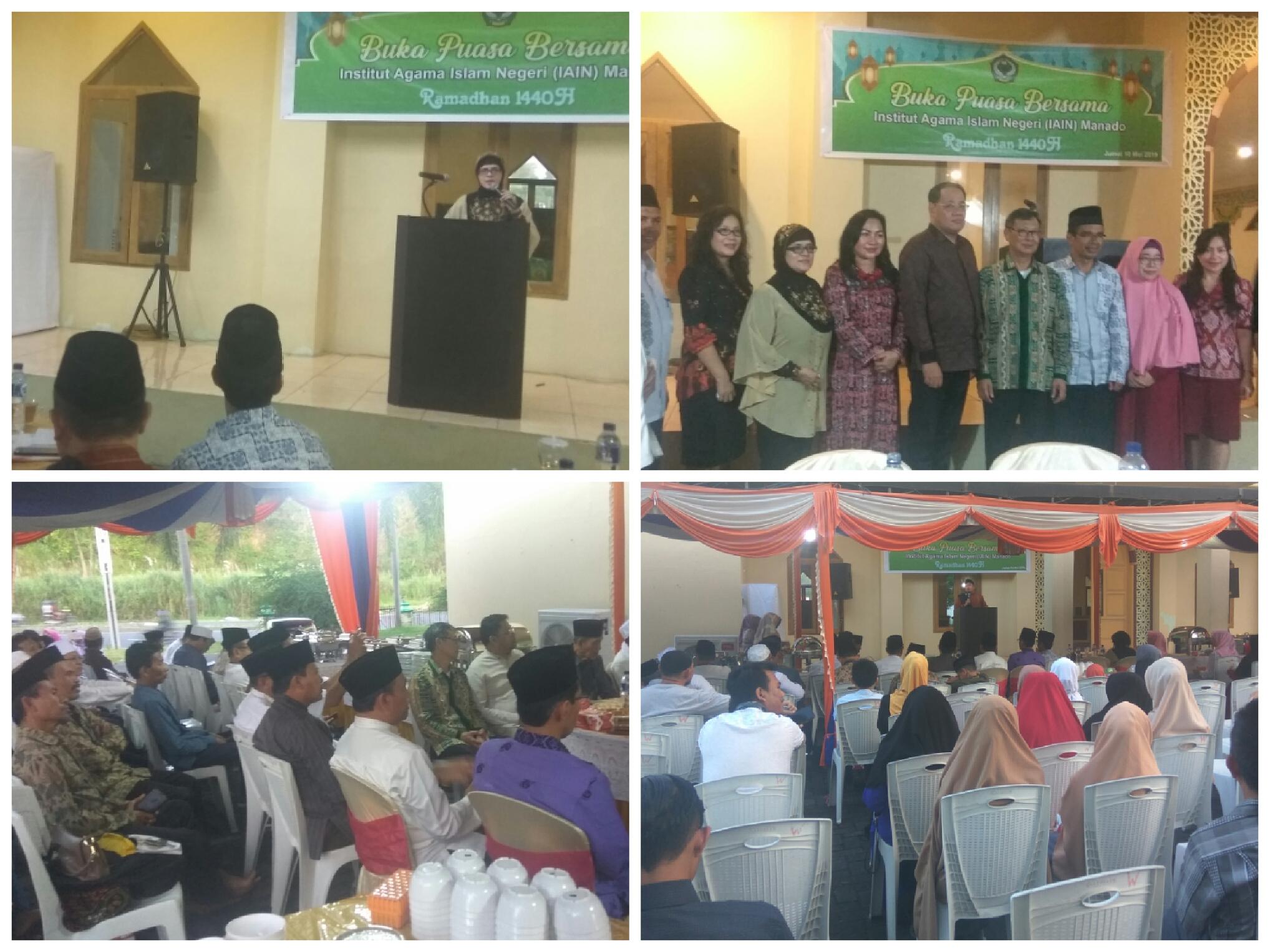 Momentum Buka Puasa Bersama, Gubernur Olly Ajak Civitas IAIN Manado Perkokoh Silaturahmi