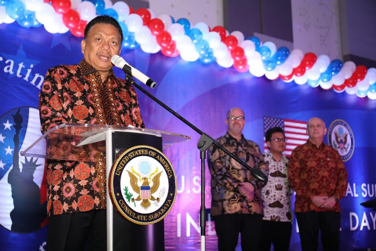 Peringatan 70 Tahun Hubungan Diplomatik AS-Indonesia, Gubernur Olly Sampaikan Hidup Berkerukuna di Sulut