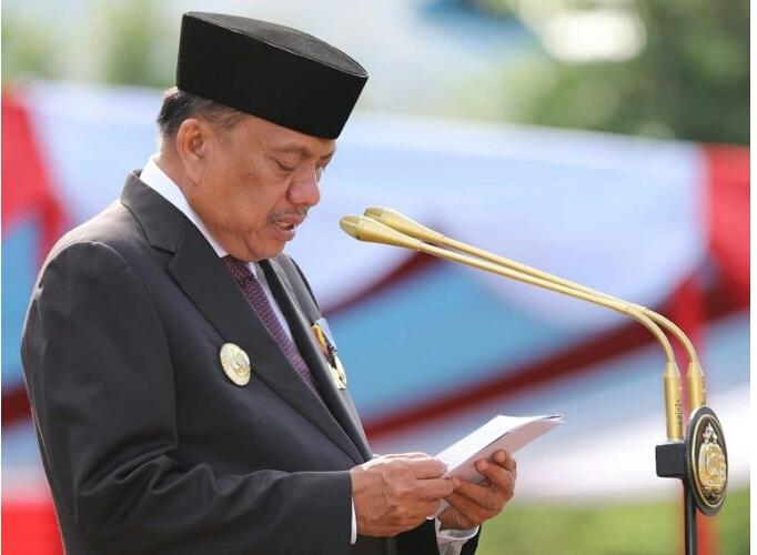 Jadi Irup HUT ke-73, Gubernur Olly Bacakan 5 Amanat Presiden Jokowi untuk Polri