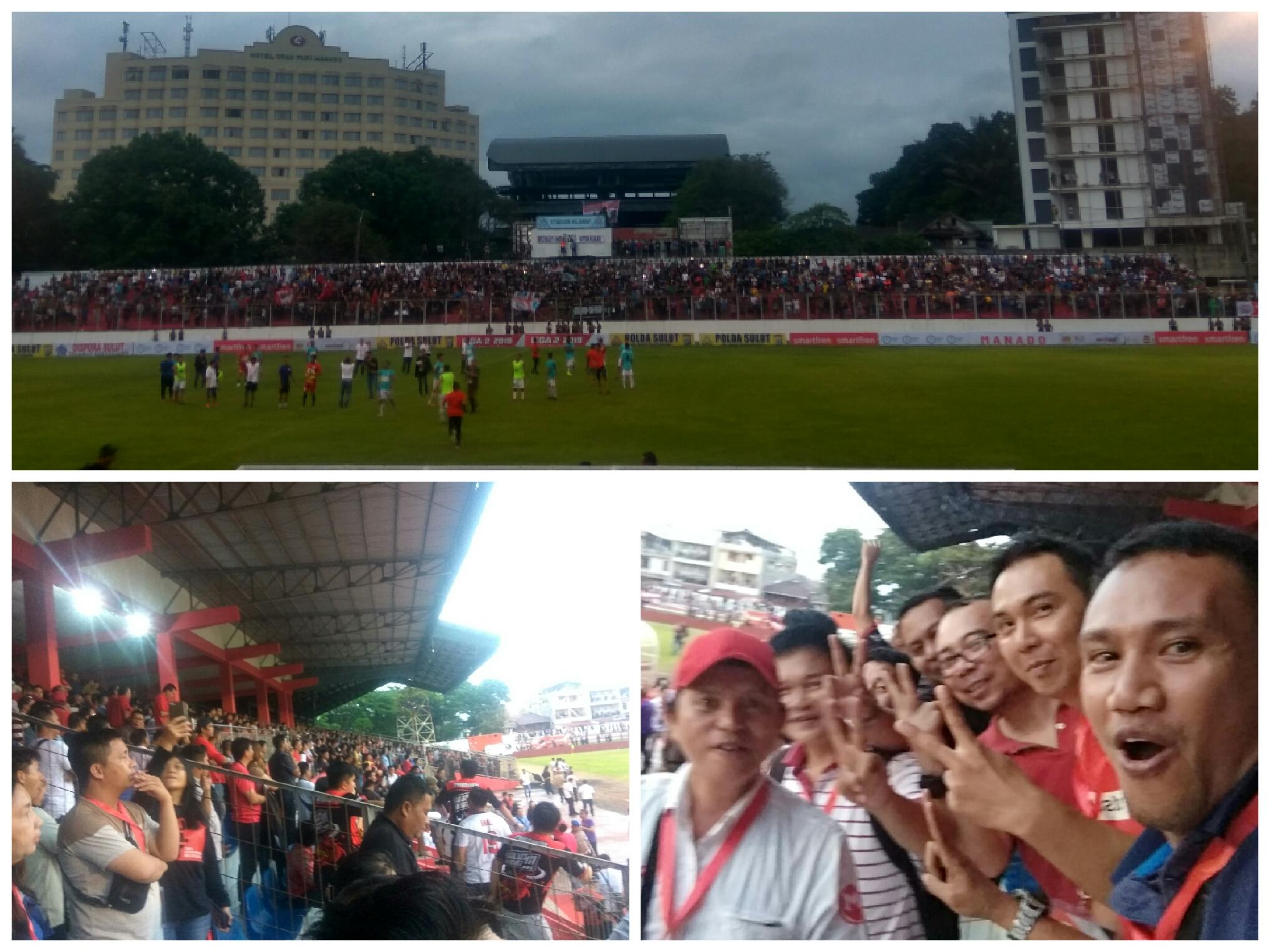 Disaksikan Ribuan Suporter, Sulut United Berhasil Menang 2-1 Atas Mitra Kukar