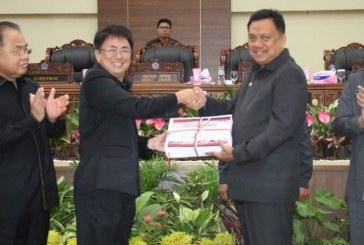 Sah, Dewan Provinsi Sulut Perdakan Pertanggungjawaban APBD Tahun Anggaran 2018