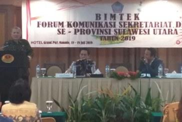 Sekretariat Dewan Provinsi Gelar Bimtek Forkom Sekretariat DPRD se- Provinsi Sulut, Fokus Persiapan Pelantikan