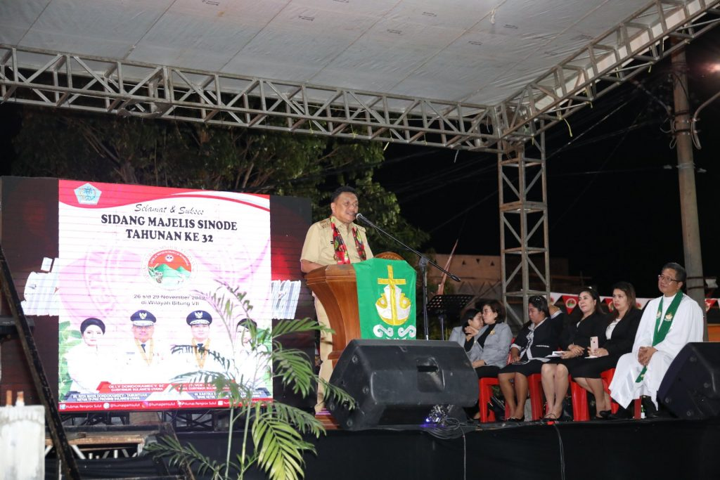 Gubernur Olly Hadiri Sidang SMST Ke-32, Ingatkan Sinergitas Pemerintah dan Gereja