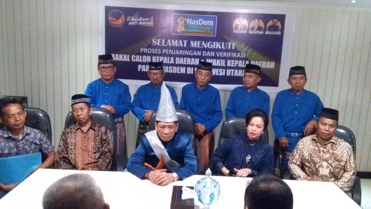 Aki Bintang SRM Resmi Daftar di Nasdem sebagai Cawagub Sulut
