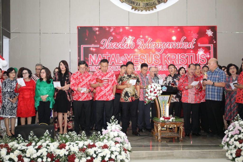 Ibadah Natal Pemprov Sulut, Gubernur Olly Sebut Yesus Lahir Untuk Memberikan Keselamatan