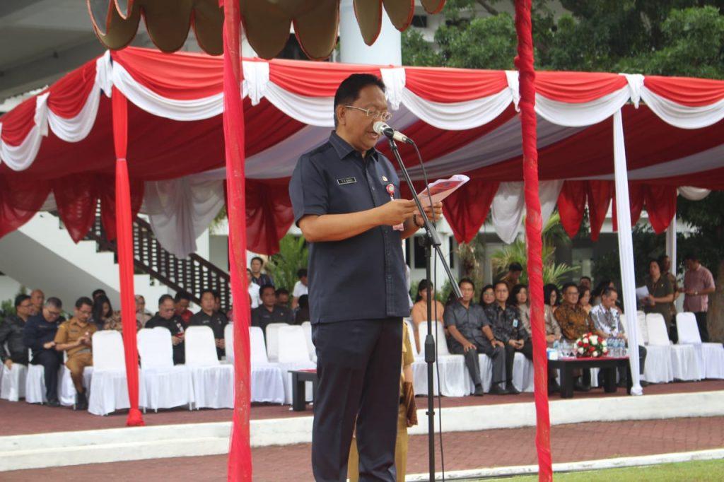 Sekdaprov Silangen Bacakan Pidato Presiden Jokowi Di Hari Bakti PU ke-74