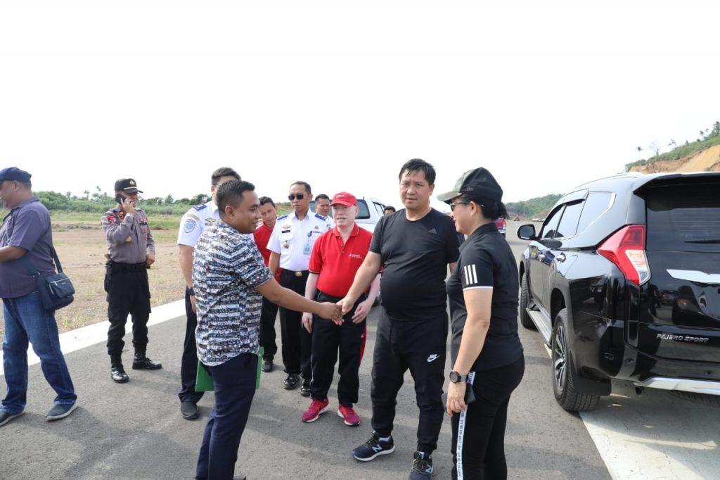 Kanker di Sitaro, Wagub Kandouw Tinjau Pembangunan Bandara Siau
