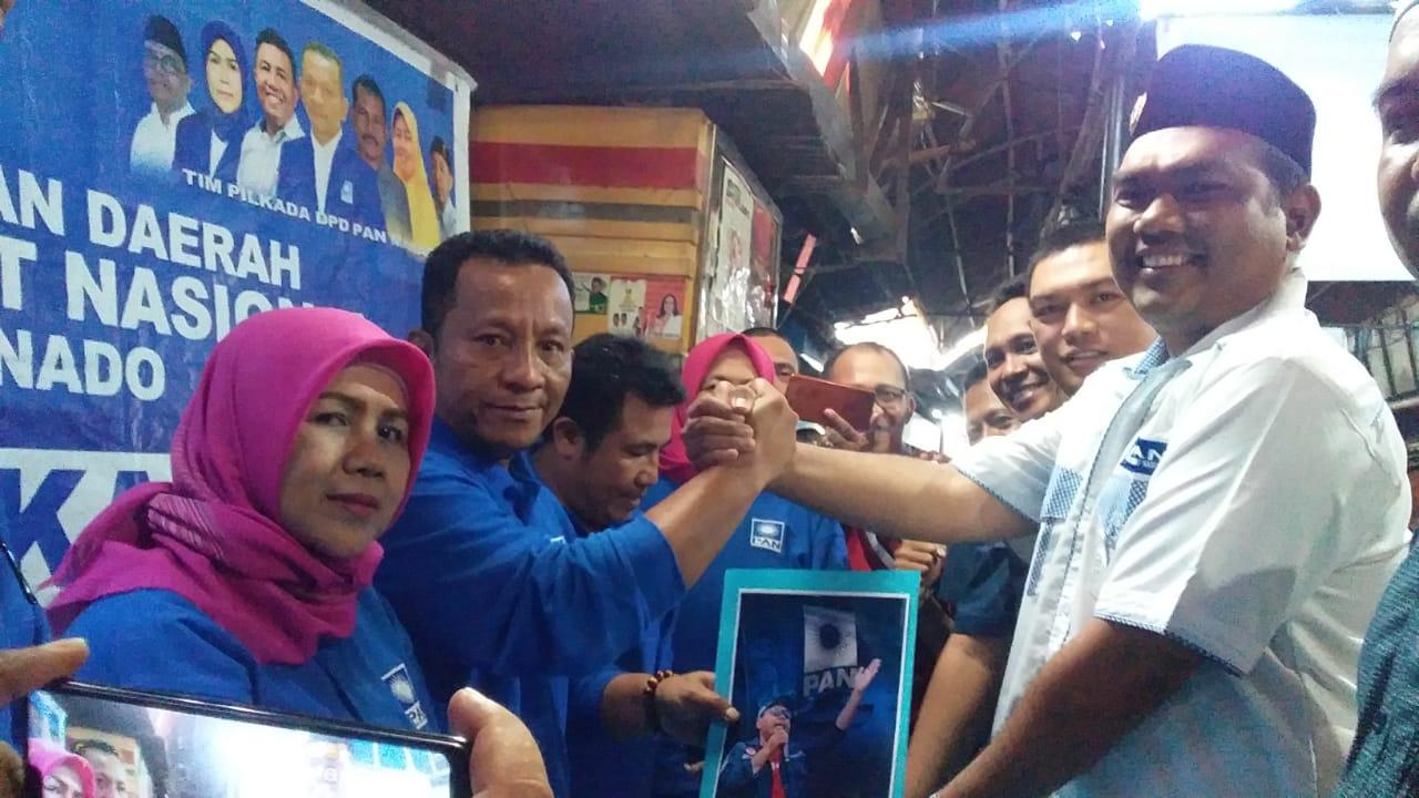 Faisal Salim Daftarkan Diri di PAN Sebagai Calon Walikota Manado
