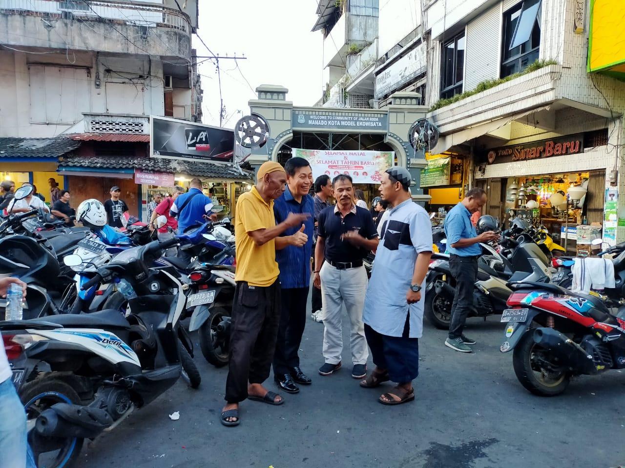 Optimis Maju Pilwako Manado, Mailangkay Silaturahmi dengan Warga Jarod