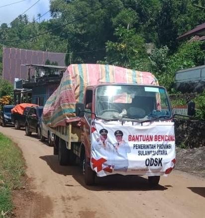 Seriusi Becana Sangihe, Pemerintahan ODSK Terus Salurkan Bantuan untuk Korban Banjir dan Longsor