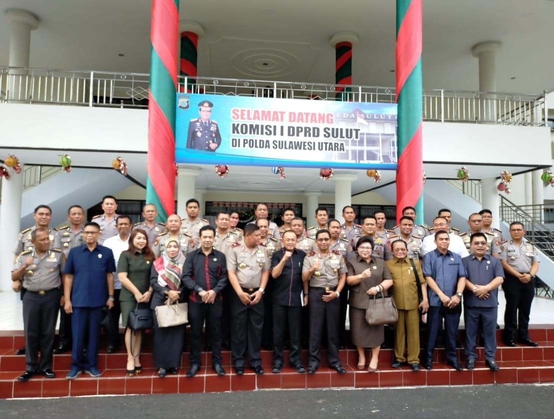 Dipimpin Ketua DPRD Andrei Angouw, Dewan Sulut Lakukan Kunjung ke Polda