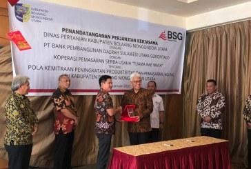 Dukung Ekonomi Kerakyatan ODSK, PT BSG dan Koperasi Tuama Raewaya Teken MoU Penyaluran KUR di Bolmut