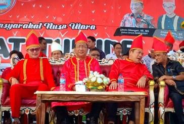 Jadi Ketum Panitia Tulude, Joune Ganda Ajak Warga Nusa Utara Bersama Membangun Minut