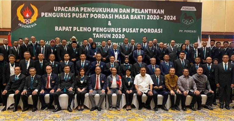 Gubernur Olly Hadiri Pelantikan PP Pordasi Masa Bakti 2020-2024 di Jakarta