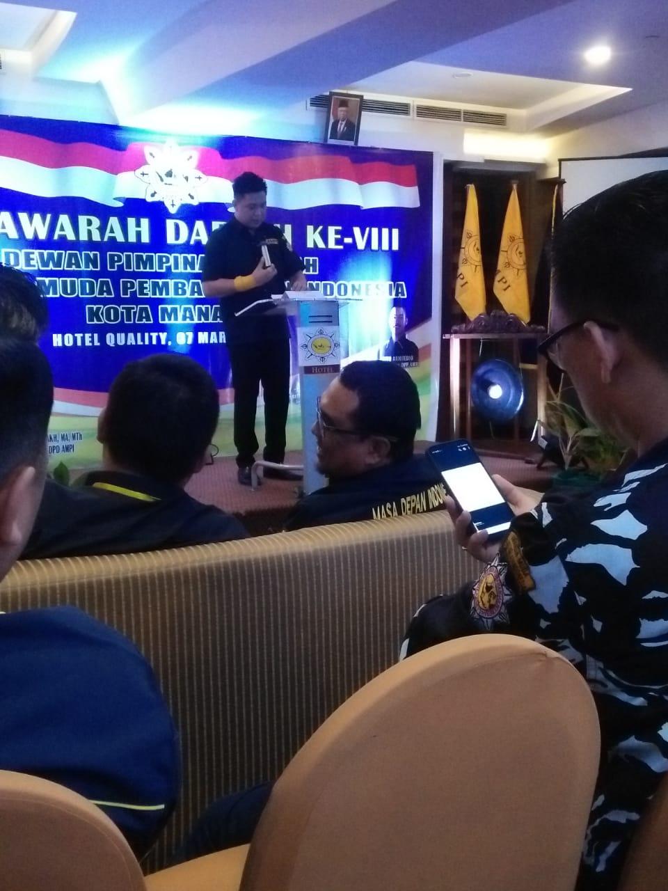 Terpilih Secara Aklamasi, Maikel Maringka Nahkodai AMPI Manado