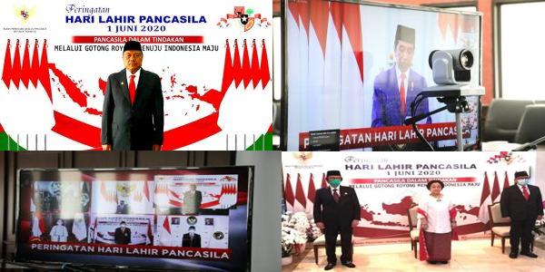 Dipimpin Presiden Jokowi, Gubernur Olly Ikuti Upacara Hari Lahir Pancasila Secara Virtual