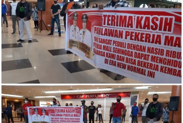 Dalam Waktu Dekat Mantos Dibuka, Dengan Penuh Gembira Karyawan Sambut Gubernur Olly 'Pahlawan Pekerja Mall'